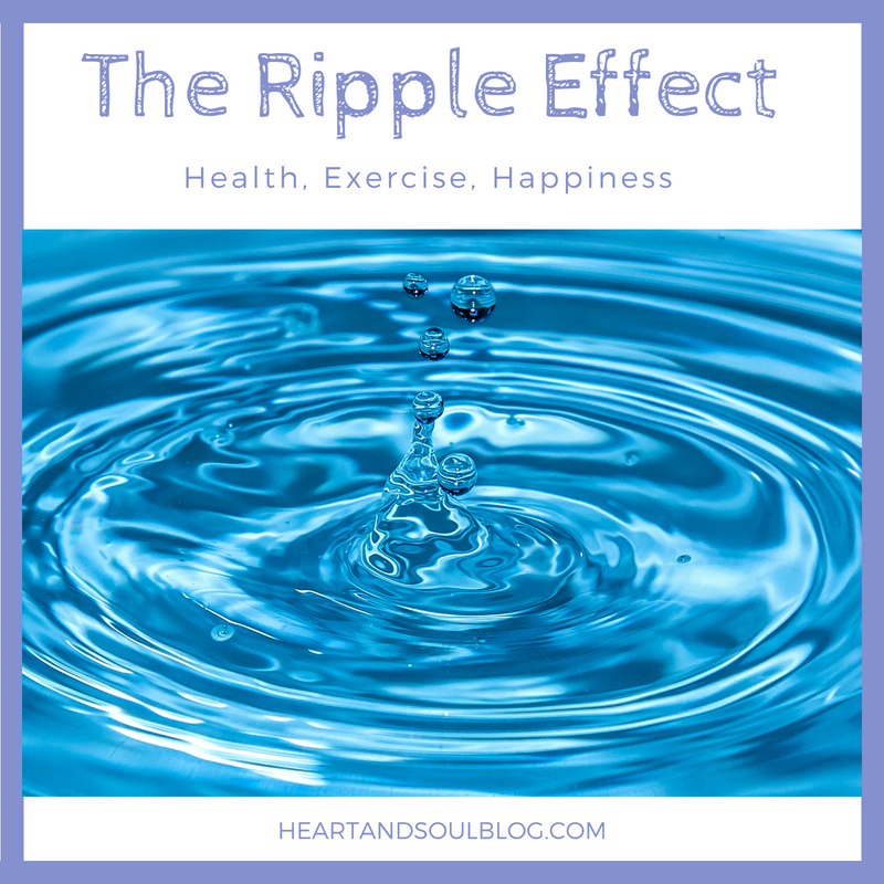 "Image of a drop of water causing a ripple effect with the title, ""The Ripple Effect"""