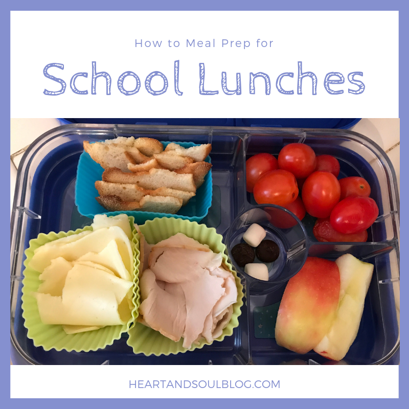 "Picture of kid's lunch box with the title, ""How to Meal Prep for School Lunches"""