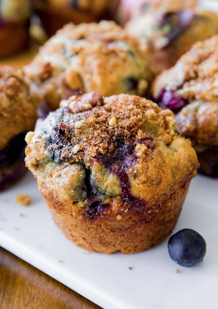blueberry muffin on plate