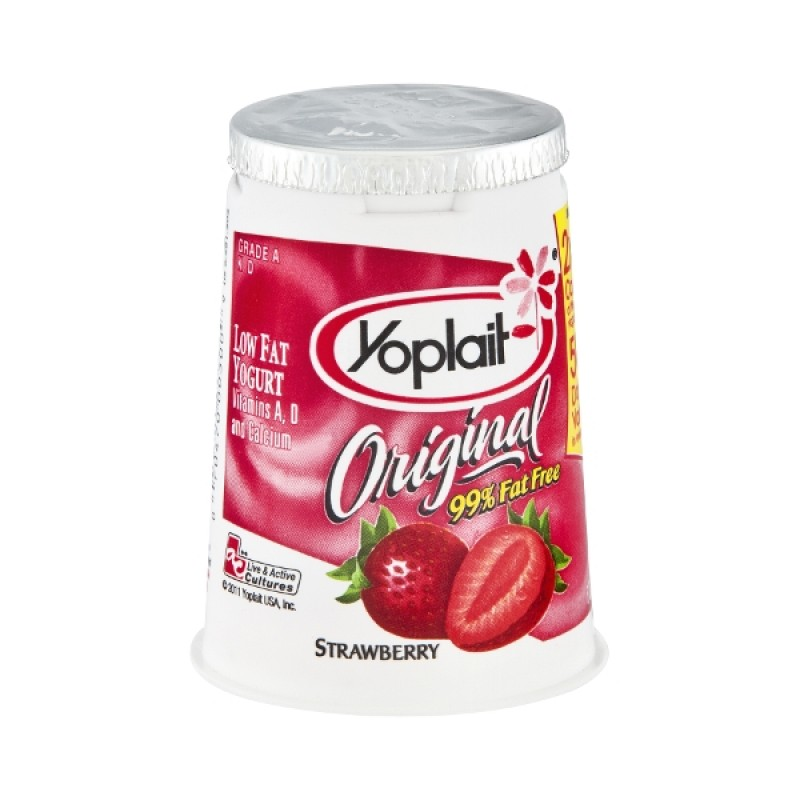 low fat strawberry yoplait yogurt