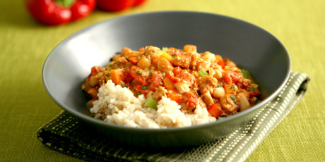 three pepper chicken chili