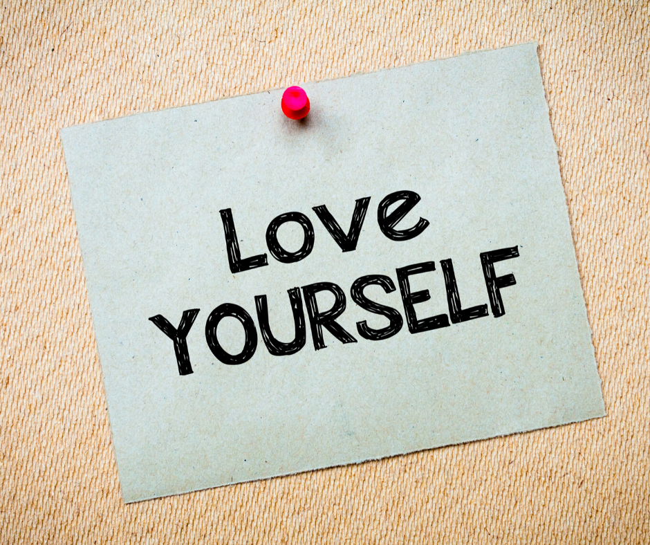"""sign to promote inner calm that reads """"Love Yourself"""""""